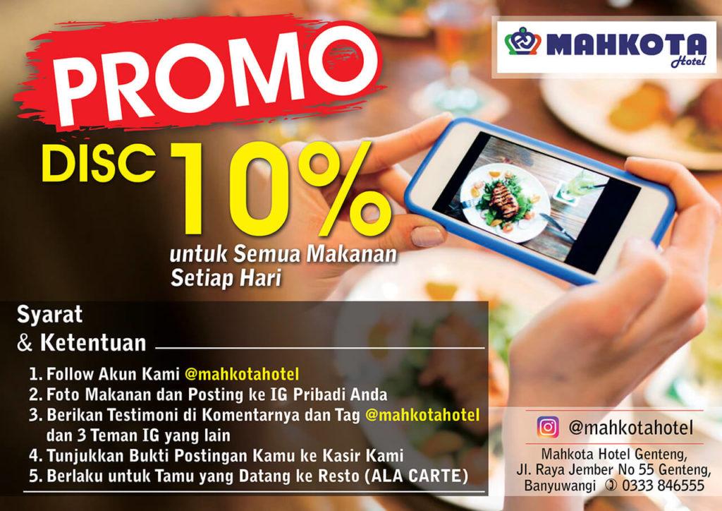 Promo Diskon Resto 10%